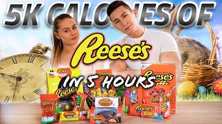 EATING 5K CALORIES OF REESES IN 5 HOURS | EASTER 2020 | 5K SUBS SPECIAL