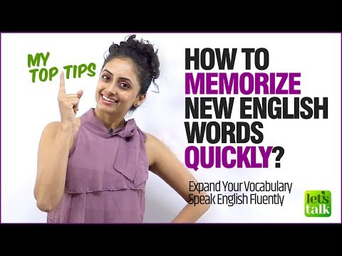 Improve English Speaking - How To Memorise English Vocabulary Quickly? Tips To Learn English Faster