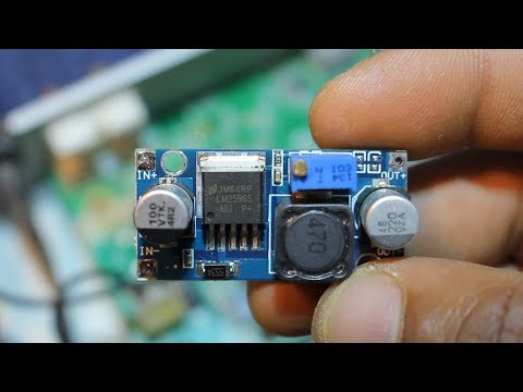 طريقة إستعمال منضم الجهد خافض ورافع LM2596 DC-DC Adjustable Step Down Power Supply Modul