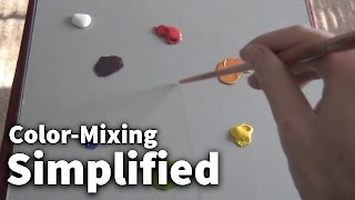 Color-Mixing Simplified #01 - Acrylic & Oil Painting Lesson | Kholo.pk