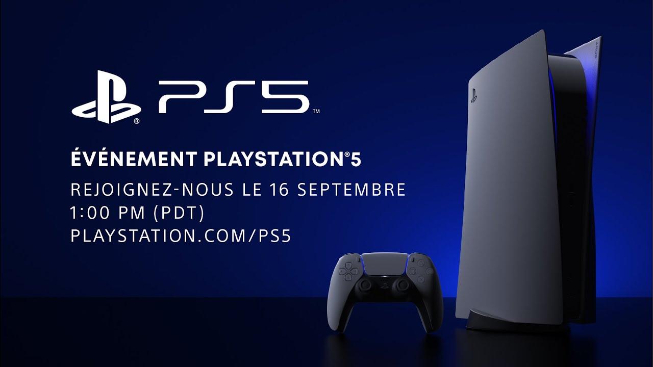 En direct : événement PlayStation 5 le mercredi 16 septembre