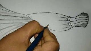 How to Draw a Fancy Dress , Fashion Design