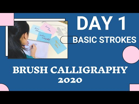 Calligraphy Classes 2020| Calligraphy Day1 | Basic Strokes of Calligraphy