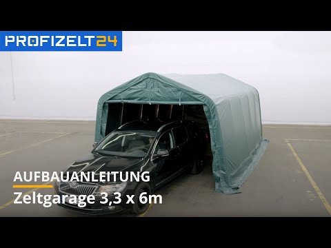 Zeltgarage (PVC) - Aufbau 3,3x6m Professional