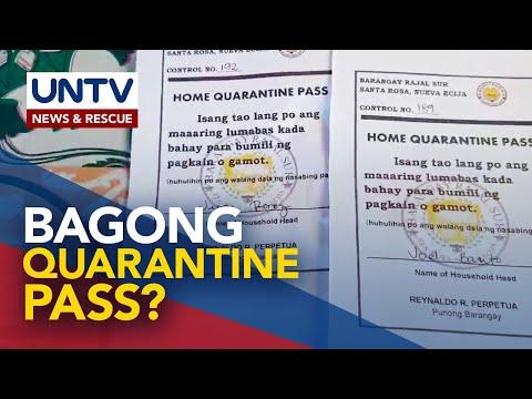[UNTV]  Pagpapatupad ng quarantine pass sa mga lugar na nasa MECQ, aprubado ni Pres. Duterte