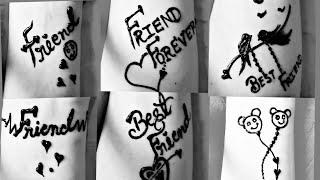 ❤Friendship Day Speical Tattoo Mehndi Design ❤|| BEST FRIEND || Dolly Arts||
