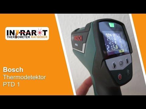 Bosch Thermodetektor PTD 1   Infrarot Thermometer Test