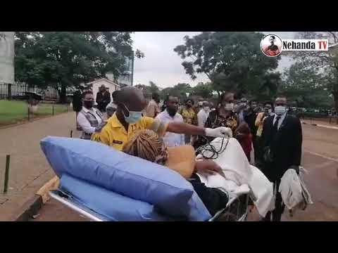 WATCH: Mary Chiwenga leaves court on a gurney to awaiting ambulance