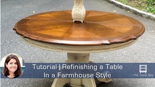 Refinishing A Kitchen Table In A Farmhouse Style - Speedy Tutorial #1