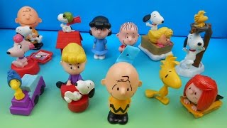 2015 THE PEANUTS MOVIE SET OF 12 McDONALD'S HAPPY MEAL KIDS TOYS VIDEO REVIEW