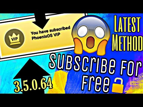 Phoenix OS VIP Free || Subscribe for Life Time || Phoenix OS Version