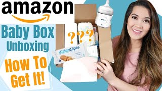FREE AMAZON BABY REGISTRY BOX UNBOXING & HOW TO GET IT | Free Baby Stuff 2020 | Registry Freebies