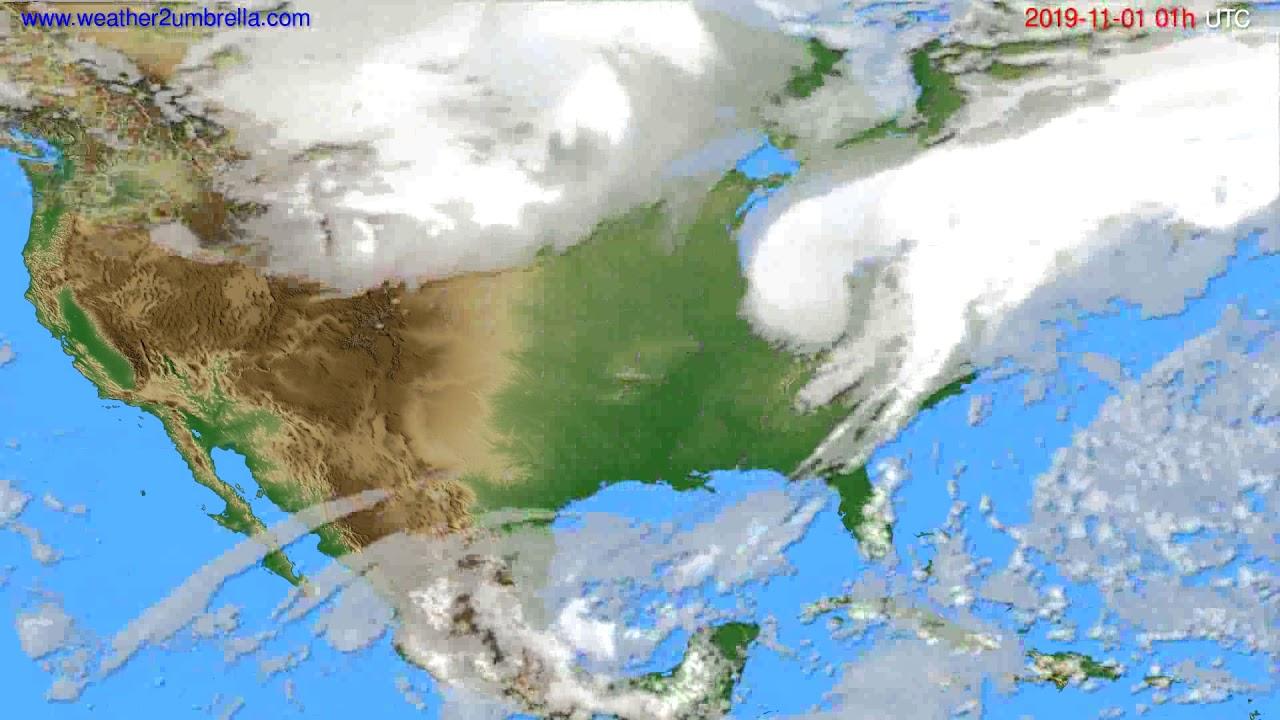 Cloud forecast USA & Canada // modelrun: 00h UTC 2019-10-31
