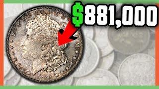 $881,000 RARE MORGAN DOLLAR COINS WORTH MONEY - VALUABLE SILVER DOLLAR COINS!!!