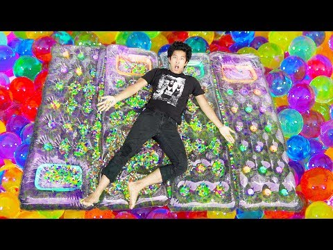 DIY Giant Orbeez Waterbed!!! *Comfortable*