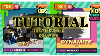 TUTORIAL | KIDS CHOICE AWARDS 2021 HOW TO VOTE BTS
