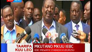 Musalia Mudavadi: We have seen a document from IEBC for the first time