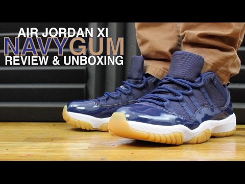 AIR JORDAN 11 XI LOW NAVY GUM REVIEW Mp3