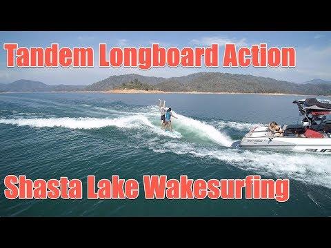 Wake9 Tandem Longboard Fun on Lake Shasta – Supra SE 550