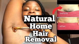 NATURAL HAIR REMOVAL AT HOME| DIY SUGARING WAX RECIPE And Tutorial.