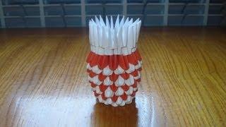 3D Origami Vase Tutorial 3