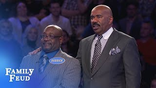 Derrick needs 14 points for $20,000! Only 2 answers left!   Family Feud