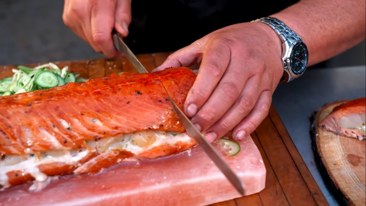 Smoked Salmon with Bay Scallop Stuffing - Bradley Smoker
