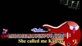 Karaoke song, SHE CALLED ME KANSAS, Aaron Lines