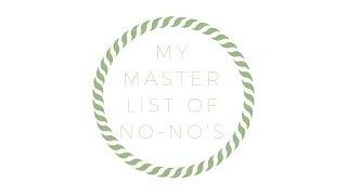 SKINCARE: The Master List of No No's