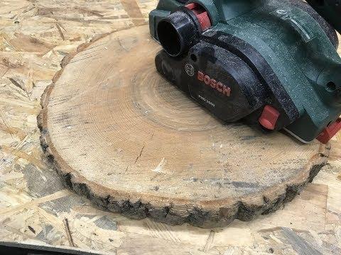 Tisch aus einer kleinen Baumscheibe unter 20€