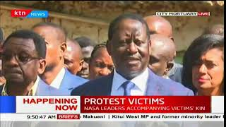 Raila Odinga challenges Jubilee government to come up and take responsibility for protest victims