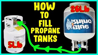 Filling a 5lb Propane tank with a 20lb tank