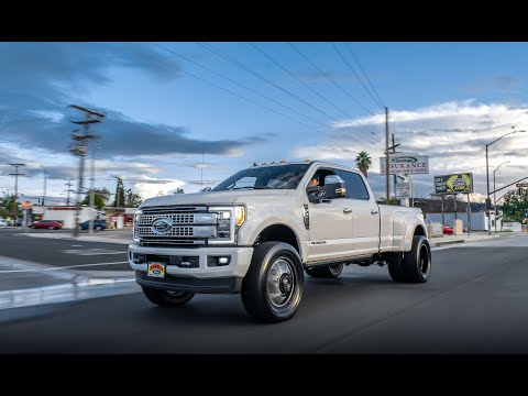 """F350 Dually ON 22"""" Fuel Wheels WITH 37"""" TOYO R/T!!"""