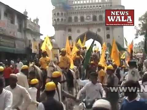 Milad Un Nabi 2015 – Rally at Charminar in the Old city of