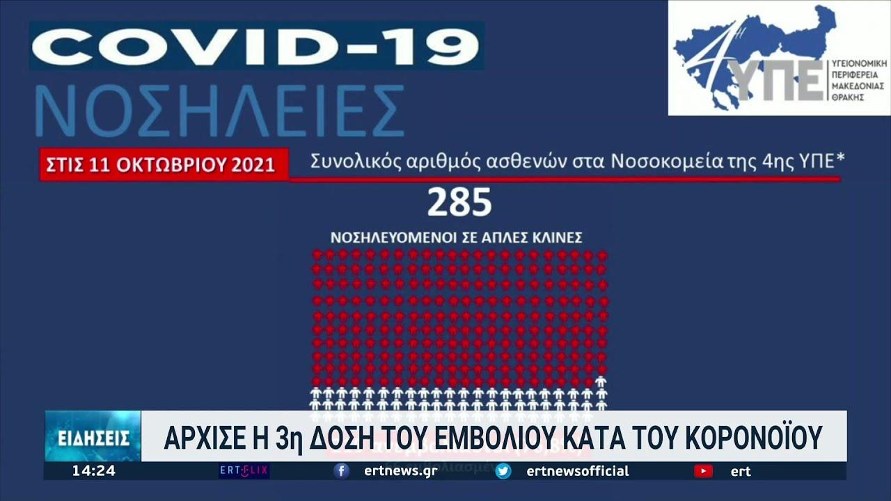 Θεσσαλονίκη: Αυξάνεται το επιδημιολογικό φορτίο 11/10/2021 | ΕΡΤ