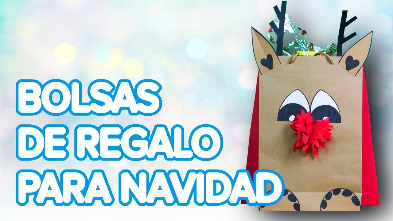 Cómo hacer una bolsa decorada para los regalos para Navidad | Manualidades infantiles