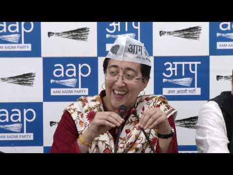 Purvanchali's Joined AAP In Presence of Rajya Sabha Member Sanjay Singh & AAP Leader Atishi