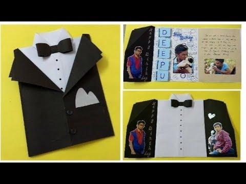 Tuxedo birthday  card idea for Special friend   complete tutorial