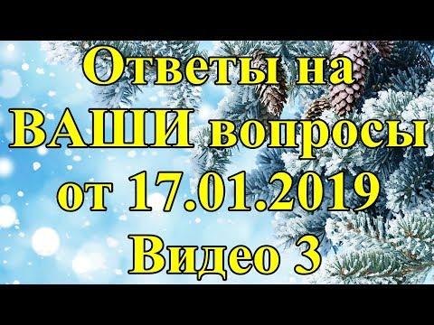 Ответы на ВАШИ вопросы от 17.01.2019. Видео 3.