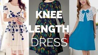 Stylish Knee Length Dress | New Knee Length Dress Patterns | Latest Knee Length Dress Designs