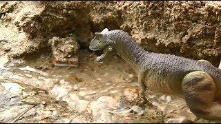 【アニア】恐竜フィギュア カルノタウルスの川登りdinosaur Carnotaur River Adventure