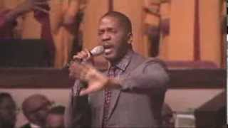 """Donald Lawrence singing """"The Gift"""" with The Levites 28th anniversary at Ebenezer AME"""