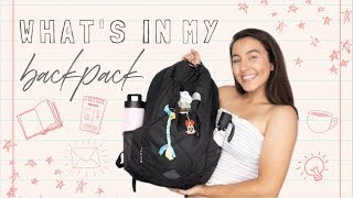 WHATS IN MY COLLEGE BACKPACK | School Supplies, Tech + Some *interesting* Items...