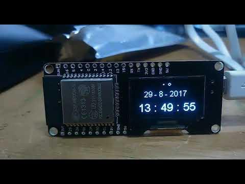 ESP32 WROOM, LOLIN OLED WEMOS      NTP Client ( Clock