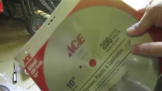 "How to change blade on Craftsman 10"" compound miter saw model 21236"