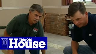 How to Level a Concrete Floor   This Old House