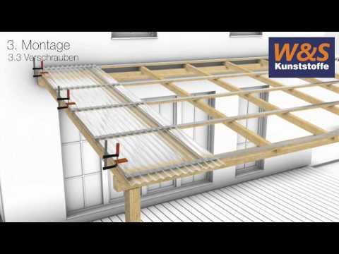 Verlegung / Montage von Wellplatten