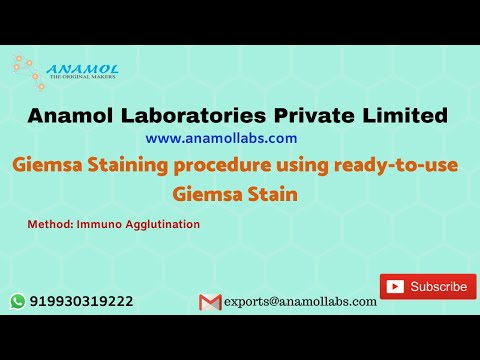 Giemsa Staining Solution for Blood Parasites Detection