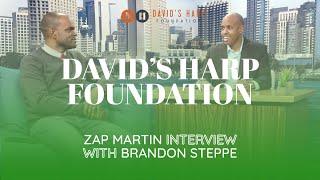 David's Harp Foundation San Diego: Zap Martin interview with Brandon Steppe