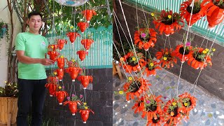 Amazing Ideas: Making Spiral Hanging Garden With Plastic Bottles, Its Very Easy And Cheap